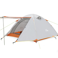 3 4 Person Outdoor Camping Tent Aluminum Pole Hunting Tent Winter Tent Rainproof Tent Waterproof 3000mm