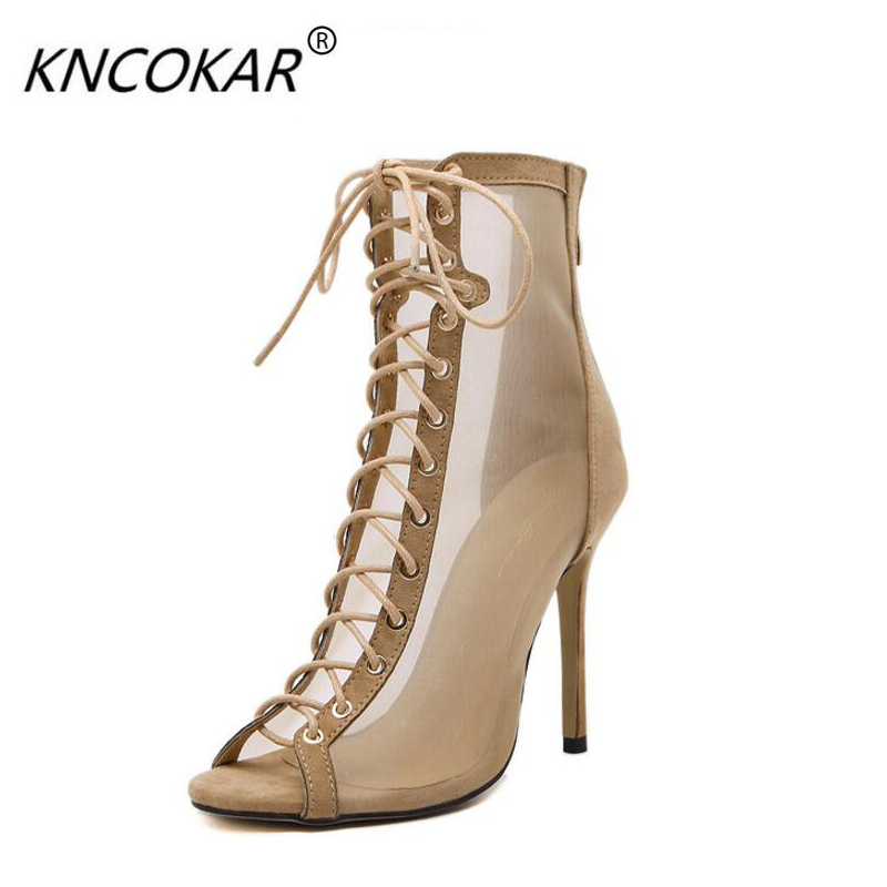 KNCOKAR In 2018, the new fashion crossover belt of sexy gauze fish-mouth is high for the elegance of women's sandals banquet duncan bruce the dream cafe lessons in the art of radical innovation