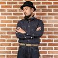 2016 bronson para hombre utillaje vintage raya camisa de manga larga