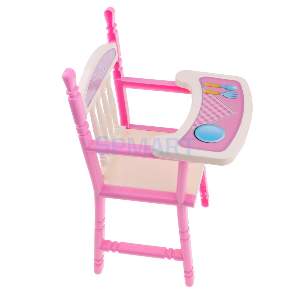 Pink Toddler Dining Chair Baby Doll High Chair Model For Reborn