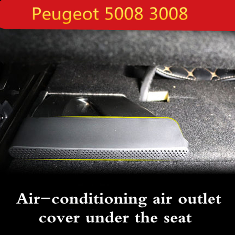 For Peugeot 5008 3008 2017 2018 Under Seat Outlet Covers