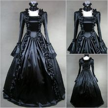 Anime Cosplay Costume Halloween Christmas Lolita Victorian Gothic Witch Black Dress Z