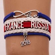 (10 pçs lote) 2018 França Rússia Copa Do Mundo De Futebol Fãs Pulseira 1a87dca2f05d9