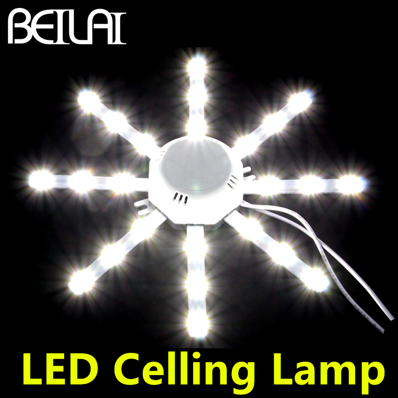 LED Celling Lamp 5730SMD 16LED To 48LED High Bright White Octopus Round Kitchen Lamp Bedroom Light Bulb Panel