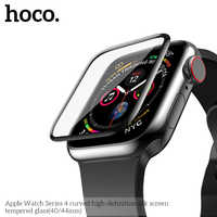 HOCO 9H 3D Curved Full Coverage Tempered Glass Screen Film For Apple Watch iWatch Series 4 40mm 44mm Screen Protector