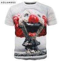 3D T Shirt Men Cute Mushroom Cloud Clown Cat Eat Pizza Print 3d Funny T Shirts