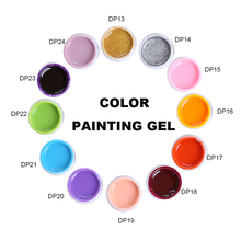 MONASI Nail Art Paint Color Gel Draw Painting Acrylic Silver Golden UV Gel Tip Nail Art Painting UV Gel Polish 1pcs Set