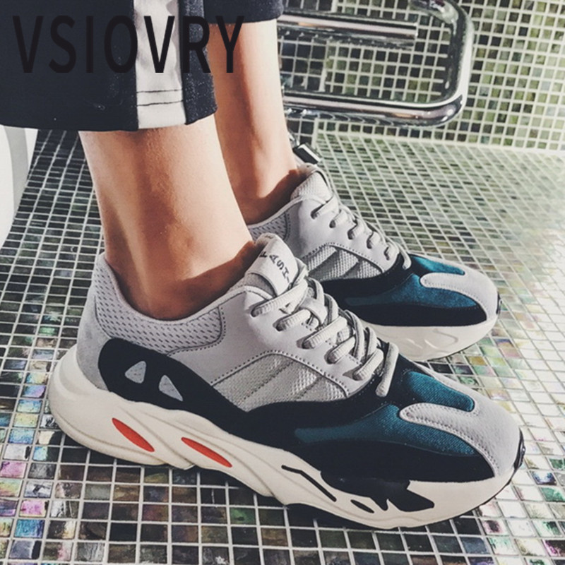 VSIOVRY Brand Men Sneakers 2018 Spring Summer Running Shoes For Male Trainers Krasovki Breathable Comfortable Flat Sport Shoes