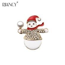 Real Natural freshwater Pearl Brooch For Women,Snowman doll Zircon Brooch Fashion Jewelry недорого