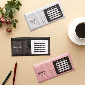 Office Supplies Sweet Perpetual Calendar Board Solid Color Pasted Practical Desk Calendar цена 2017