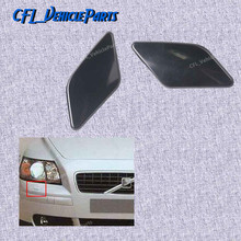 Pair Front Bumper Left Right Headlight Washer Nozzle Cover Cap Primed 39886377 39886397 For Volvo S40 V50 2008 2009 2010 2012