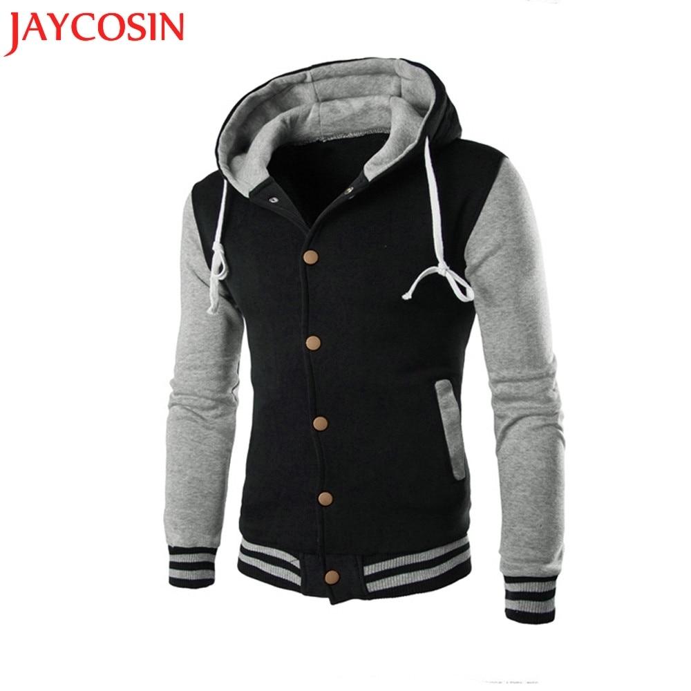 Fashion Mens Outwear Winter Hoodie Warm Coat Jacket Slim Sweatshirt Sweaters US