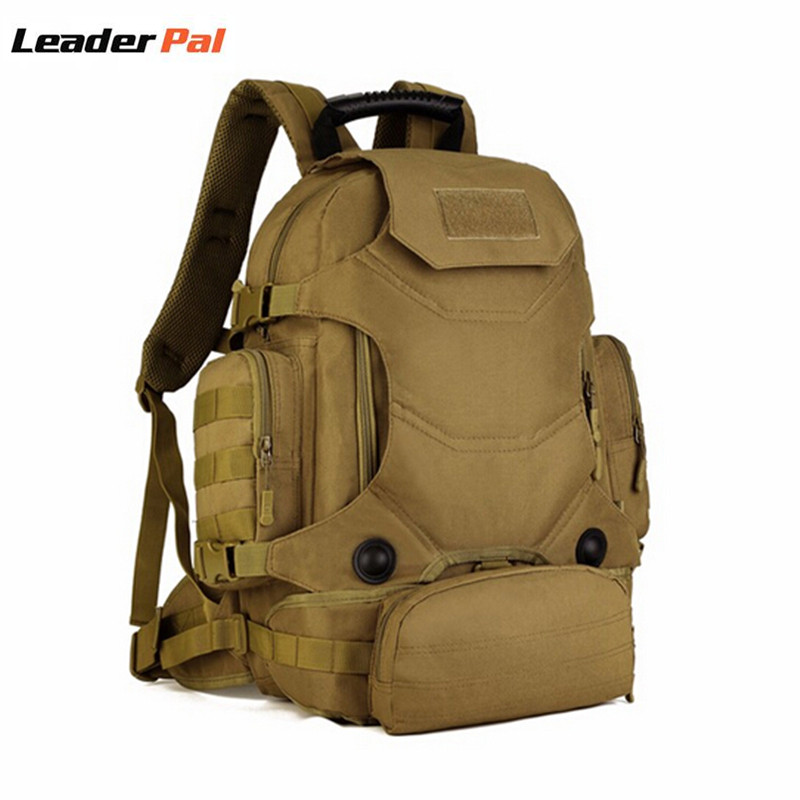 40L Waterproof Nylon Tactics Military MOLLE Assault Backpack Pack 3 Way Modular Attachments Large Bag Rucksack with Patch S427 baigio men backpack military molle assault backpack 3 way modular attachments 50l waterproof bag rucksack male travel bags
