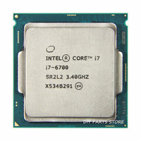 Intel core quad core i7-6700 intel i7 6700 processor lga 1151 3.40 ghz 6 m ram ddr3l-1333, DDR3L-1600 DDR4 GPU HD530