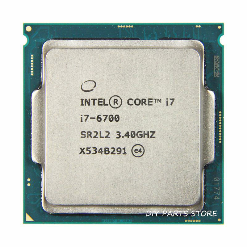 Processeur Intel core Quad core I7-6700 intel I7 6700 LGA 1151 3.40GHz 6M RAM DDR3L-1333, DDR3L-1600 DDR4 GPU HD530