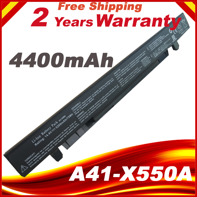 4400 mah 14.8 v Batterie D'ordinateur Portable Pour ASUS A41-X550 A41-X550A X550 A450 A550 F550 F552 K450 K55 0 P450 P550 r409 R510 X450 8 cellules