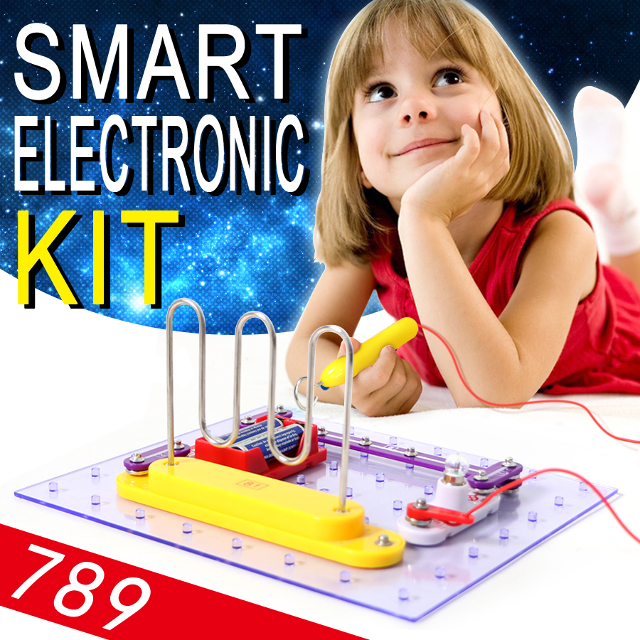 Children Smart Electronic Kit 789 Projects Educational Science Discovery Kit Toy,DIY Assemblage Blocks Funny Circuits Toy keyes kt0044 electronic blocks kit