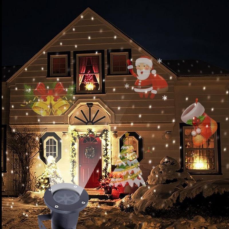 Led Christmas Lights On House.Us 17 99 40 Off Laser Projector Led Lights Outdoor Landscape Decor Moving Lamp Led Christmas Lights Projector For Garden Lawn Holiday Decoration In