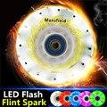 [LED y Spark] 85A Patines de Rueda Flash LED Brillante, con 52 104 208 rodillo de chispas de fuego del pedernal piedras para igor seba hv hl