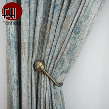 Jacquard Chenille Fabric Curtains For Living Room Double-sided Curtains For Bedroom Window Treatment Glacier Pattern Custom Size