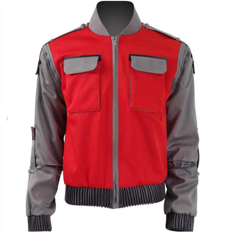 High quality Movie Back To The Future Cosplay Costume Jr Marlene Seamus Marty McFly Jacket Outwear Unisex Coat for Women and Men