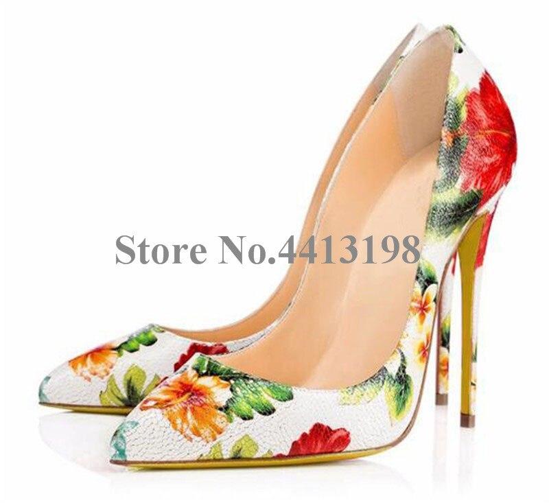 Thin Frauen Spitz Super on Blume Süße High Heels Schuhe As Heel Design Mischfarben Frühling Pumpen Kleid Slip Picture Neue herbst Damen 1wC5xOqn