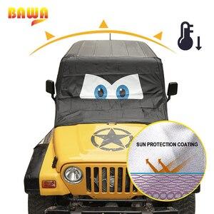 Image 4 - BAWA couverture de pare brise pour voiture, protection contre le soleil, pour Jeep Wrangler TJ JK JL, 1997 2018