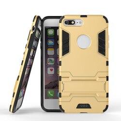 Étui pour iPhone 7 Plus étui en plastique dur en silicone hybride armure arrière étuis de téléphones portables pour iPhone 7 Plus support de sacs béquille