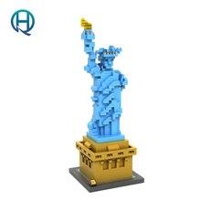Mini Nano Blocks Statue of Liberty LOZ Building Blocks Action Figure Diamond Blocks Compatible Legoelieds 9387