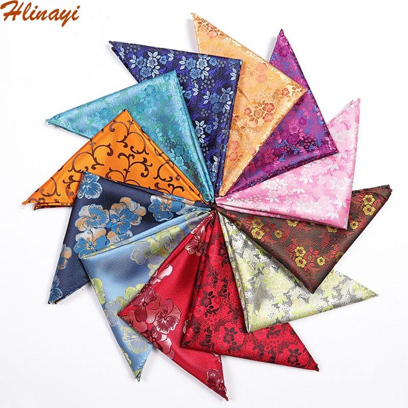 Hlinayi Popular In 2019 Men's Pocket Towel Color Warp Series Bright Fashion Pattern Pocket Towel