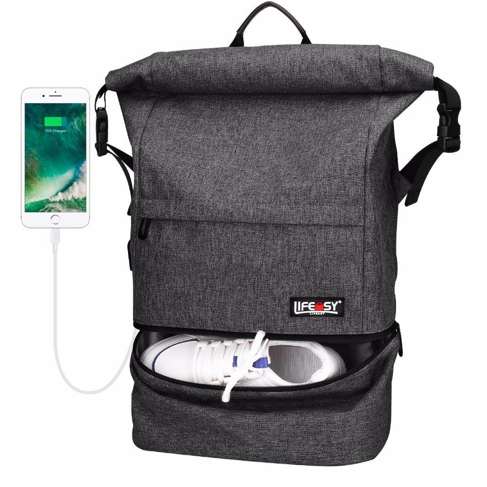 Travel Backpack, MapleStory Waterproof Anti-Theft Wet Separation Roll Top Business Laptop Bag Lightweight Daypack For Men Women