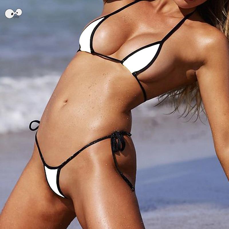 2019 Bandage Extreme Sexy Micro Bikini Set Thong Underwear String Swimsuit Push Up Swimwear Brazilian Biqunis Mini Bathing Suit