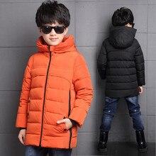 2016 Hot Sale Hooded Boys Winter Coats Long Sleeve Boys Winter Jacket WindProof Children Kids Winter Jacket 7 to16Years