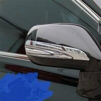 WELKINRY tampa do carro auto Para Lexus RX 2009 2010 2011 2012 2013 2014 2015 ABS chrome side fender asa porta espelho retrovisor guarnição