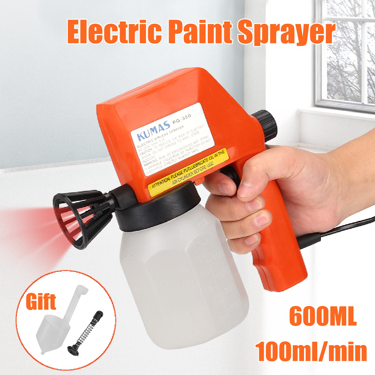 220V High Power Spray Gun Home Electric Paint Sprayer Easy Spraying And Clean Perfect For Beginner