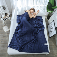 SunnyRain 1 Piece Weighted Blanket for Adult Gravity Blankets Decompression Sleep Aid Pressure Weighted Quilt