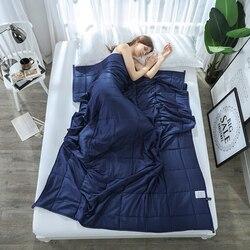SunnyRain 1-Stück Gewichteten Decke für Erwachsene Schwerkraft Decken Dekompression Schlaf Hilfe Druck Gewichteten Quilt