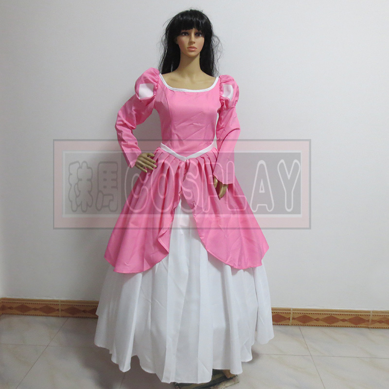 Princess Ariel Pink Dress Costume