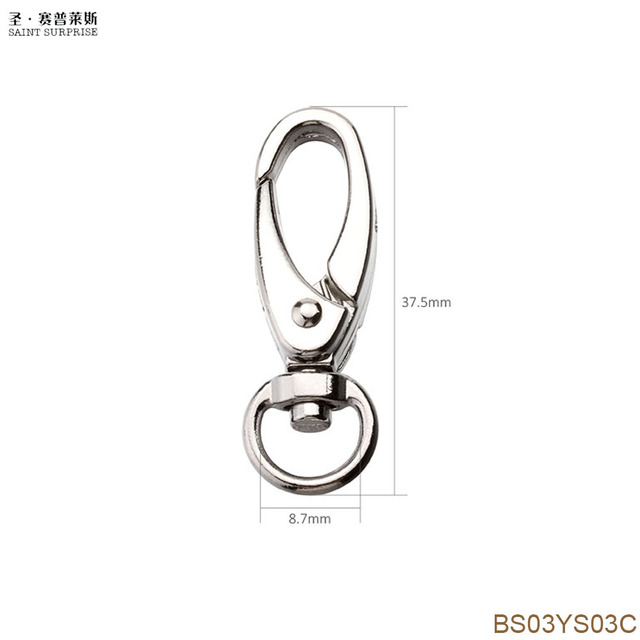 20pcs 37 5mm Swivel Trigger Clips Snap Hooks Lobster Clasp Keychain