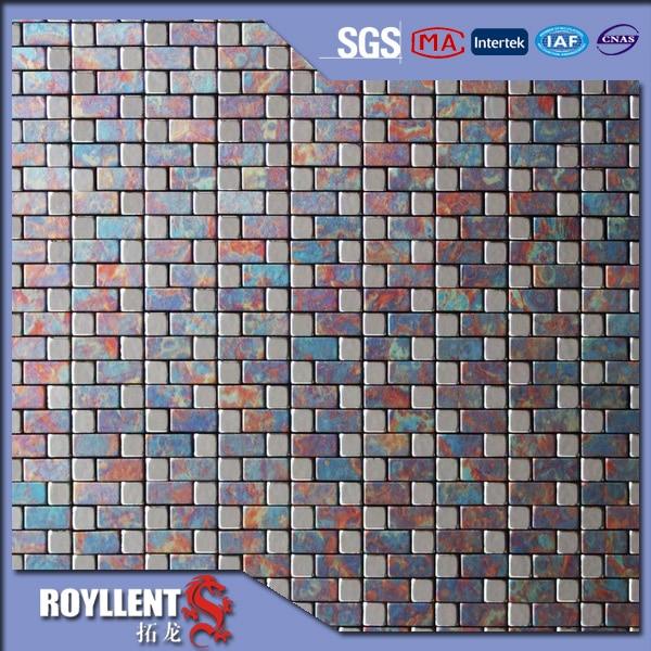royllent acp mosaico parquet barato naranja violeta reciclado hojas de paneles de pared de la cocina backsplash azulejos ideas de decoracin de interiores