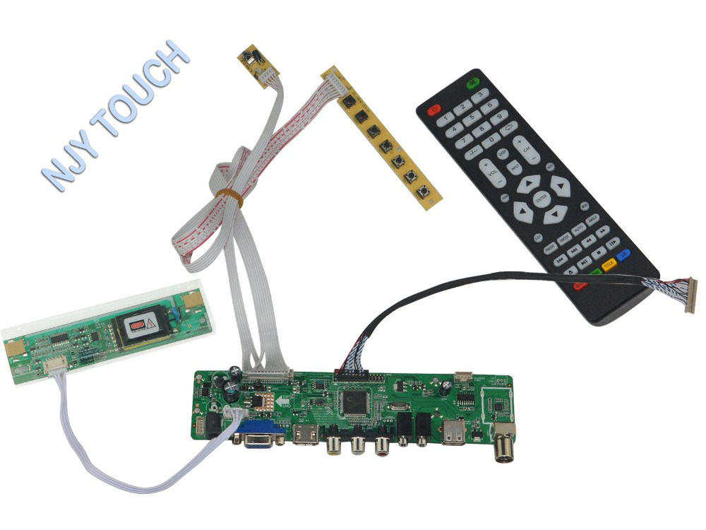 LA.MV56U.A New Universal HDMI USB AV VGA ATV PC LCD Controller Board for 12.1inch 800X600 G121SN01 2CCFL LVDS Monitor Kit