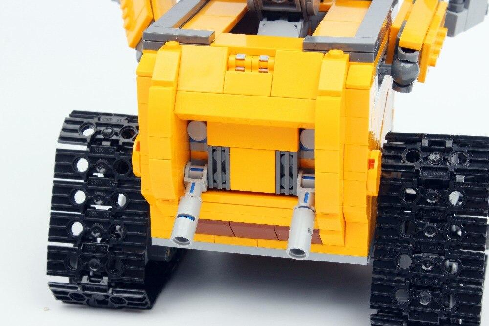 16003 Technic film série idée Robot mur E blocs de construction jouets 687 pièces éducatifs enfants cadeaux Compatible Bela - 4