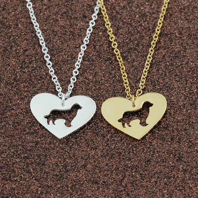 brixini.com - I Love Dog Statement Necklace