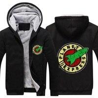 Free Shipping USA Size Men Women Planet Express Thicken Hoodie Zipper Coat Custom Made Clothing Jacket
