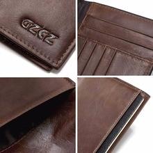 Genuine Leather Men Wallet Business Card Holder Travel Credit Case Rfid