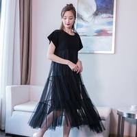 Soonyour Plus Size 2017 Summer Fashion New Cotton Split Joint Gauze Irregular Hem Loose Big