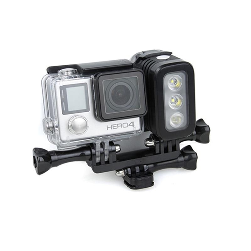 Spot Lumière Flash Lampe pour Gopro Hero 4 Session SJCAM pour Xiaomi Yi DSLR Caméra Étanche LED Flash Remplir Lumière sport Caméra Partie