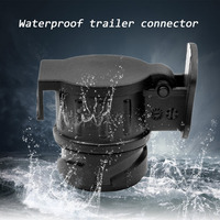 13 To 7 Pin Adapter Connector Socket Waterproof Towbar Towing Electrical Converter N Type For Caravan