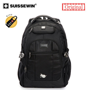 2019 Suissewin Brand Men Laptop Backpack school bags Swiss Orthopedic  Male Cool Backpack For Teenagers Rucksack mochila escolar Рюкзак