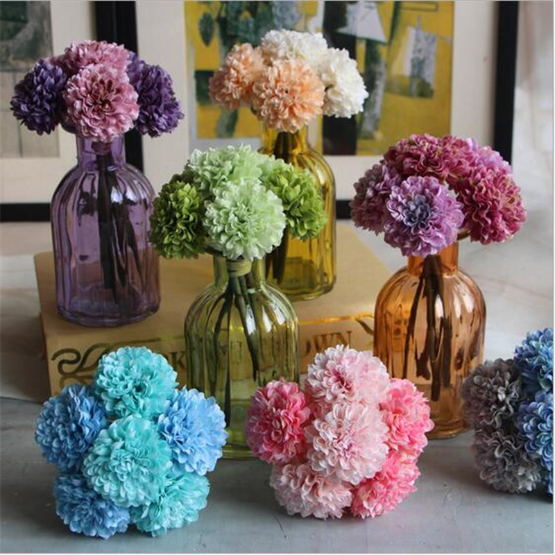 2pcs/lot Artificial Flowers Mini 19cm 2 Mixed Daisy Color Orchid Silk  Adornment Photography Props